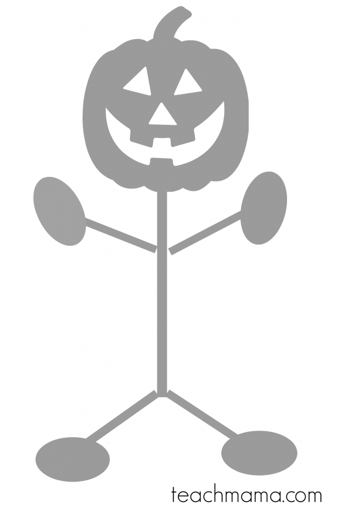 pumpkin man halloween class party game teachmamacom - Halloween Word Game