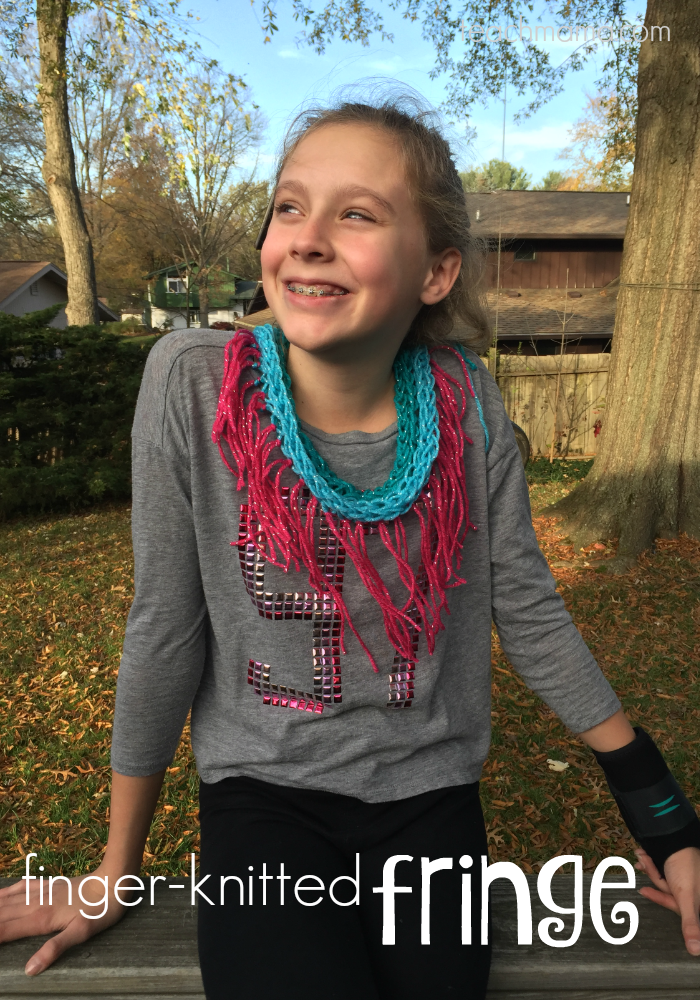 5 cool handmade gifts that tweens love to make finger knitted fringe teachmama.com