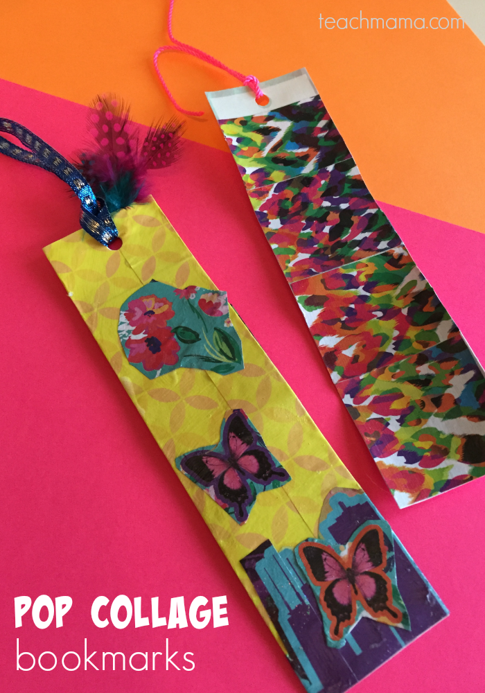 5 cool handmade gifts that tweens love to make pop collage bookmarks teachmama.com