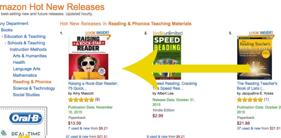 raise a reader amazon hot list