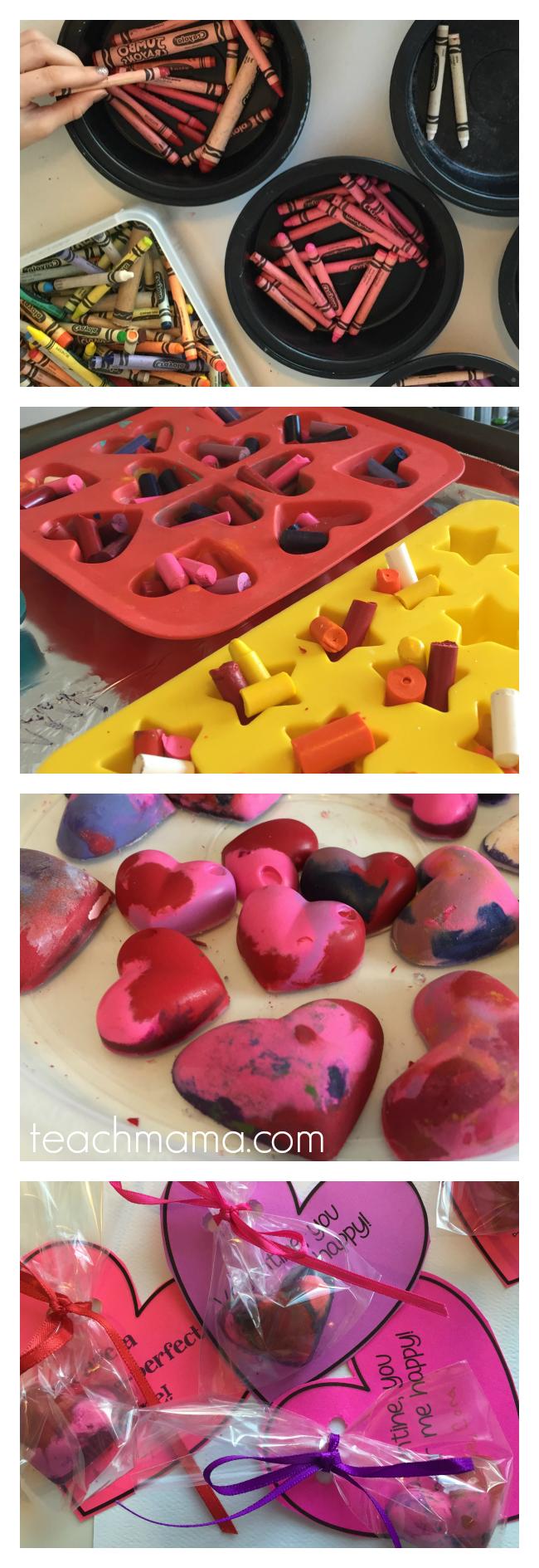 melted crayon valentines handmade valentines teachmama.com