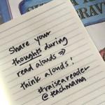 think aloud while reading reading tip 9 #raiseareader teachmama.com