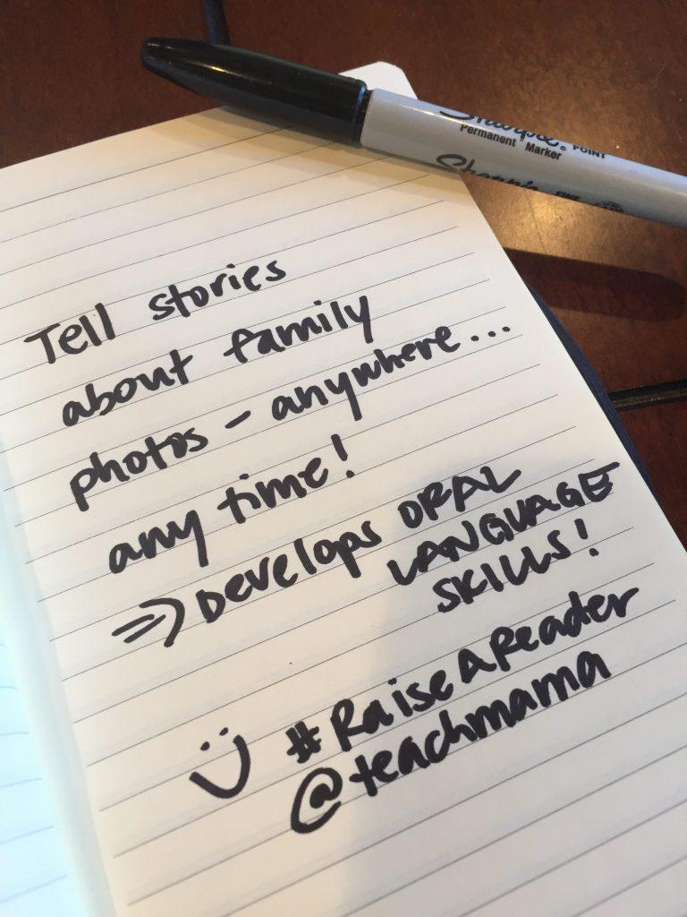 use family photos to develop oral language skills: reading tip 12 #raiseareader