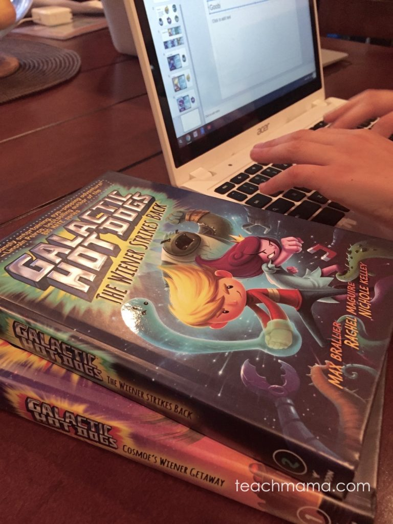 fun summer series for reluctant readers Galactic Hot Dogs