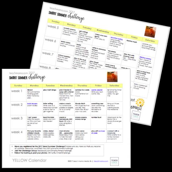 smart summer challenge teachmama.com 2017