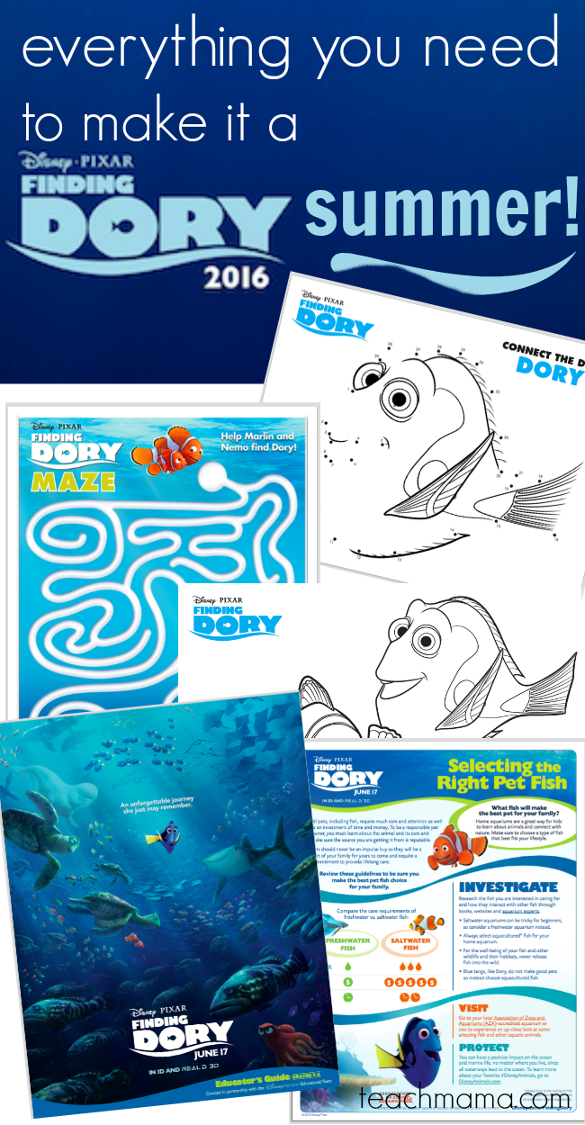 everything you need to make it a finding dory summer teachmama.com