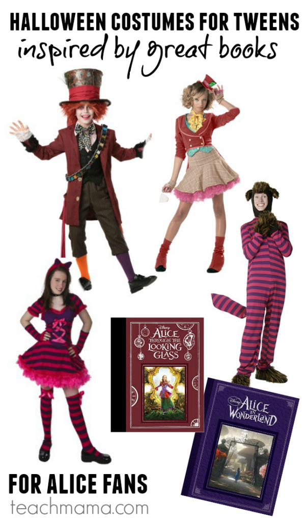 cool halloween costumes for tweens (costumes inspired by great books!)