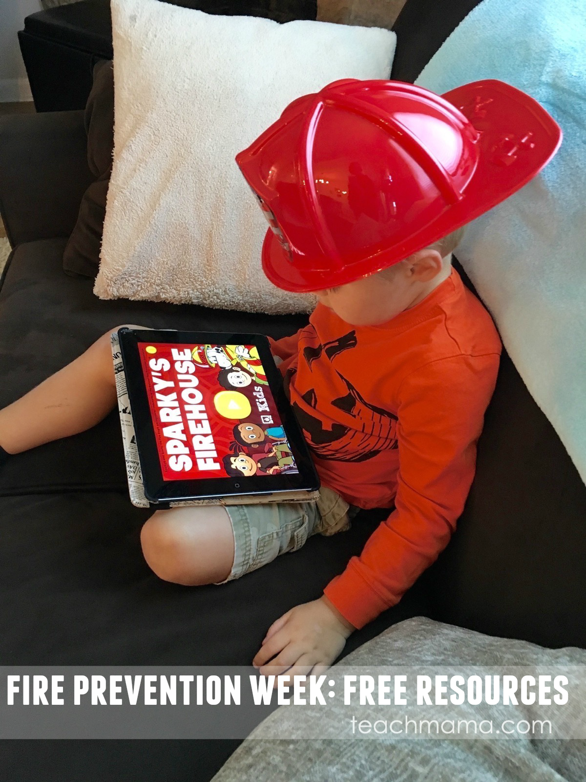 national fire prevention week: sparky's firehouse game for kids