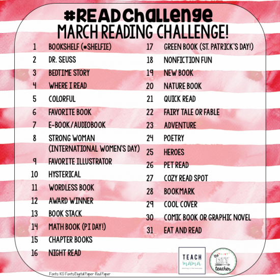 #readchallenge celebrate reading | teachmama.com 4