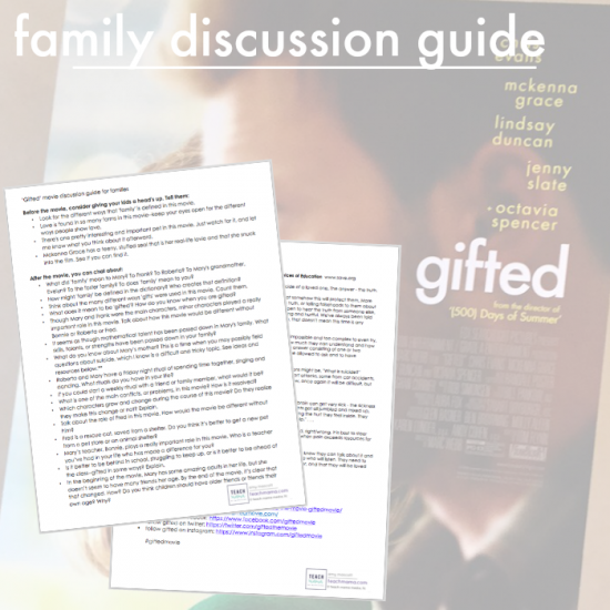5 reasons to see 'Gifted' teachmama.com disc guide