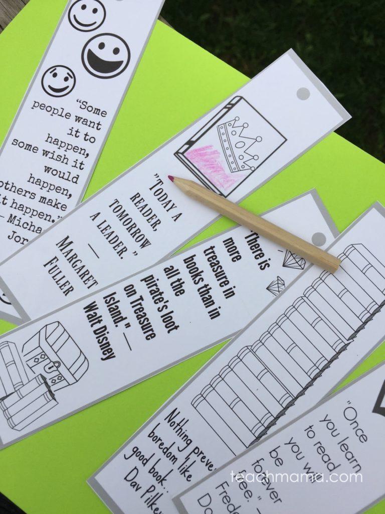 make summer learning rock bookmarks teachmama.com