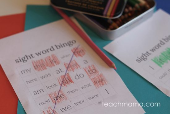 sight word bingo: color and learn | teachmama.com