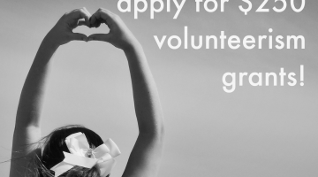 teach kids to give back: $250 volunteer grants for students