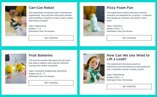 STEM Lab: free, hands-on STEM activities for kids & teens