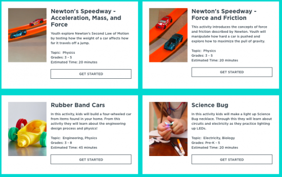 STEM Lab: free, hands-on STEM activities for kids & teens