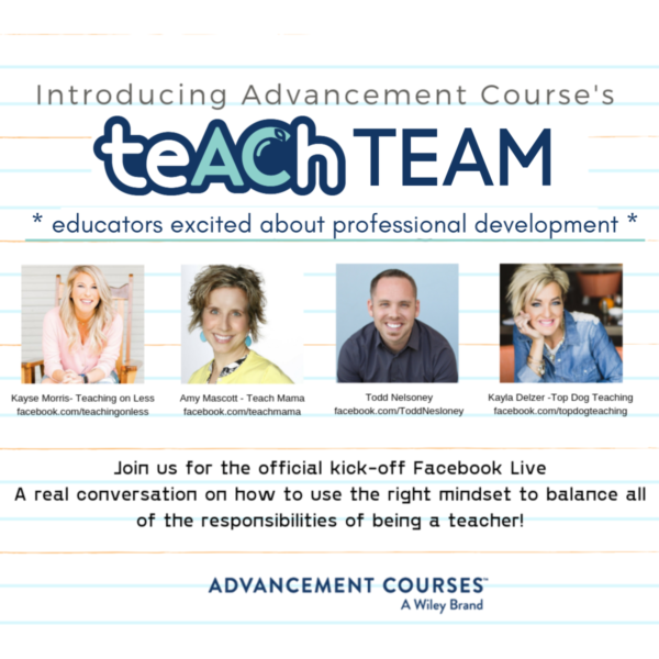 Advancement Courses teACh Team introduction