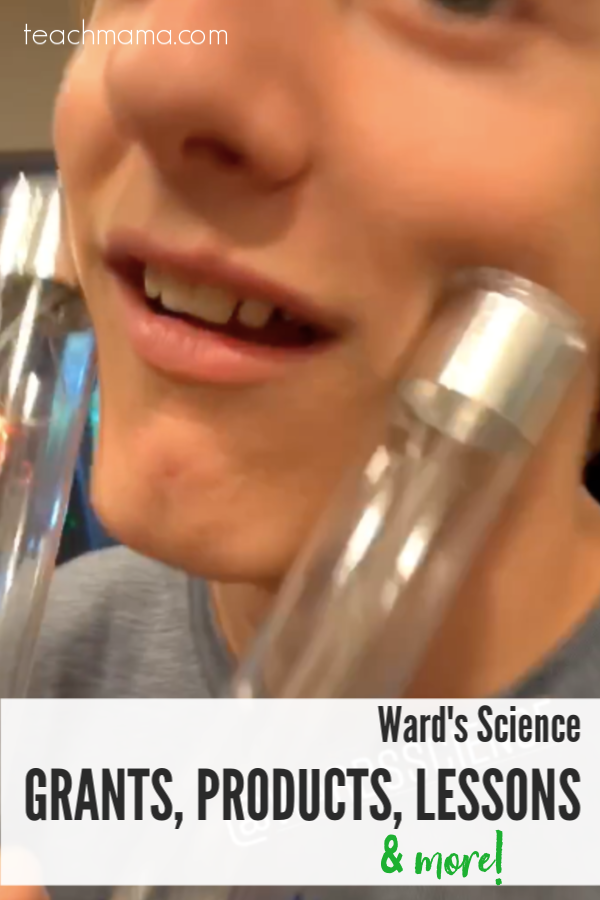 Ward's Science close-up of boy using human circuit supplies on his cheeks