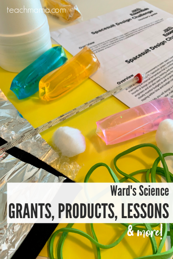 Ward's Science Grants, Products, Lessons, and more -- spacesuit design challenge supplies