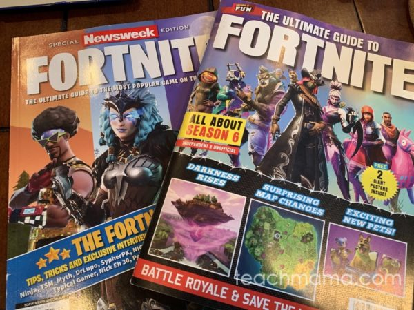two fortnite magazine covers