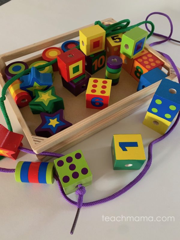 melissa and doug lacing beads and blocks