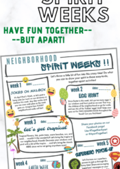 neighborhood spirit month: let's be together, but apart in April