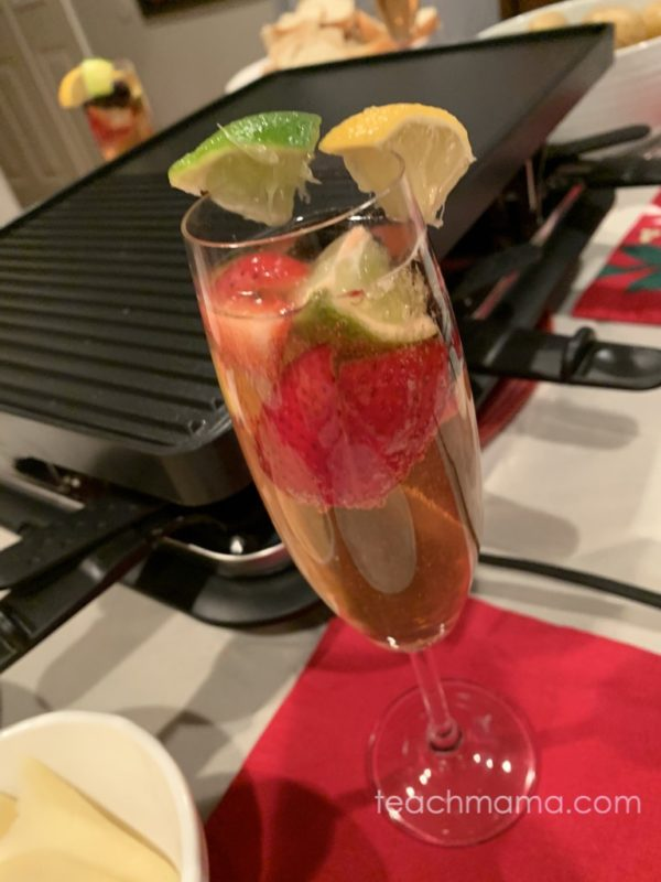 fancy drink with fruit