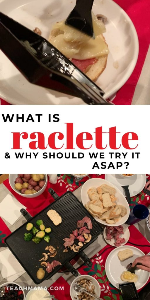 raclette meal on table